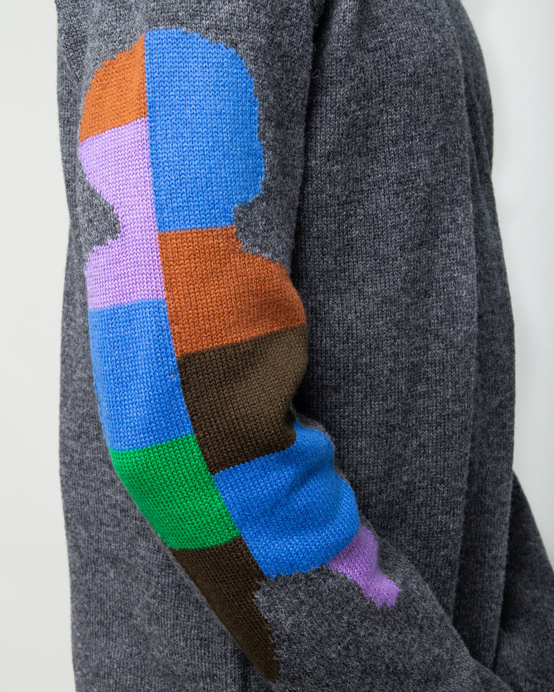 Color Block Sweater Grey