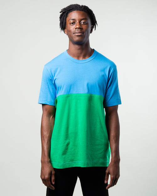 Color Block Tee Blue/Green 1