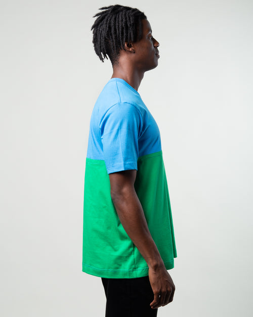 Color Block Tee Blue/Green 2