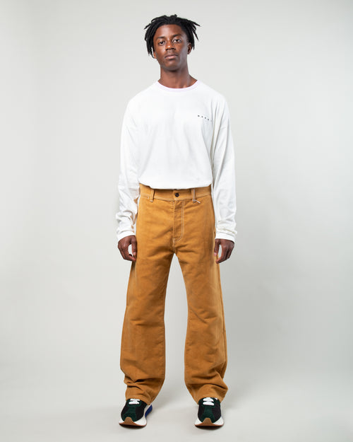 Five Pocket Wide Leg Pants Brown 2