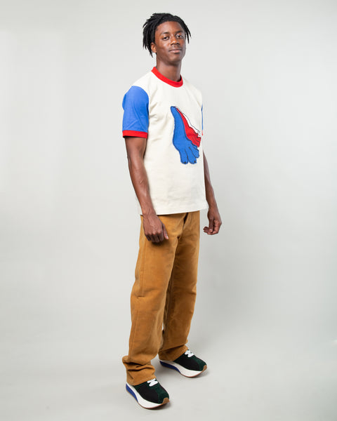 Graphic T-Shirt White/Blue/Red
