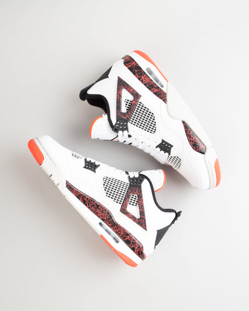 Air Jordan 4 Retro White/Black/Bright Crimson 2