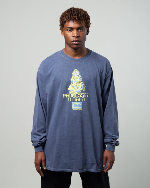 Processed World LS Tee Navy 1
