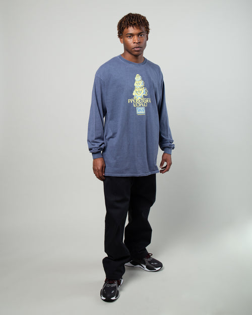 Processed World LS Tee Navy 2