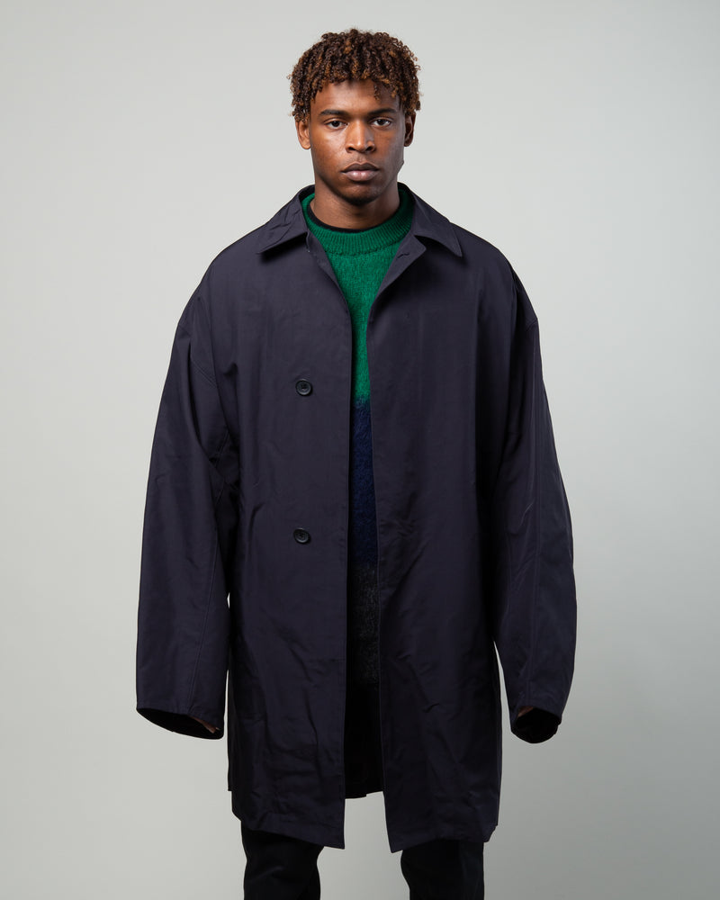 Balmacaan Jacket Dark Navy Blue