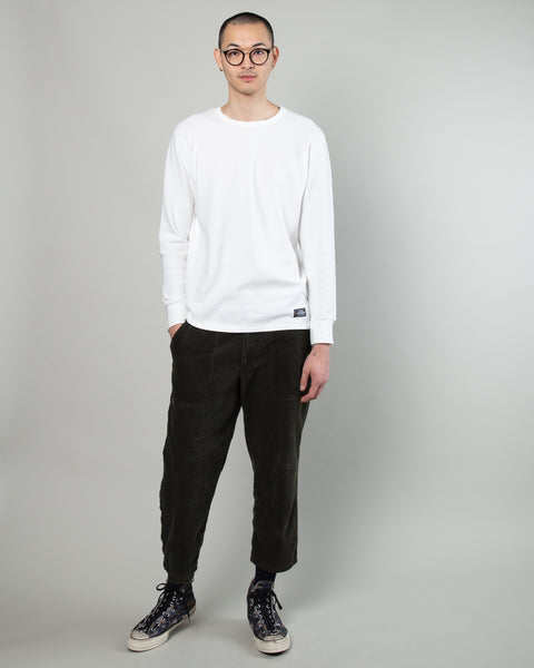 Thermal Waffle LS Tee White
