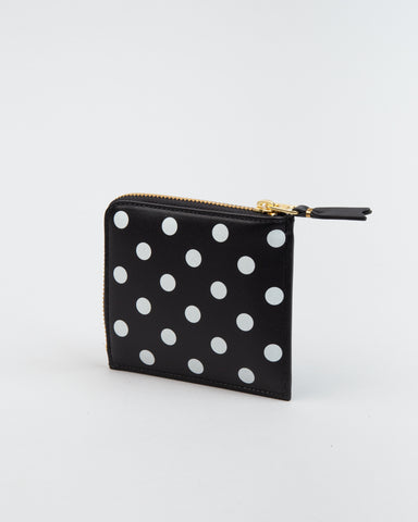 SA3100PD Polka Dot Wallet Black