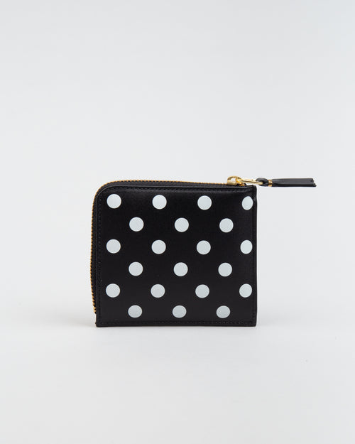 SA3100PD Polka Dot Wallet Black 1