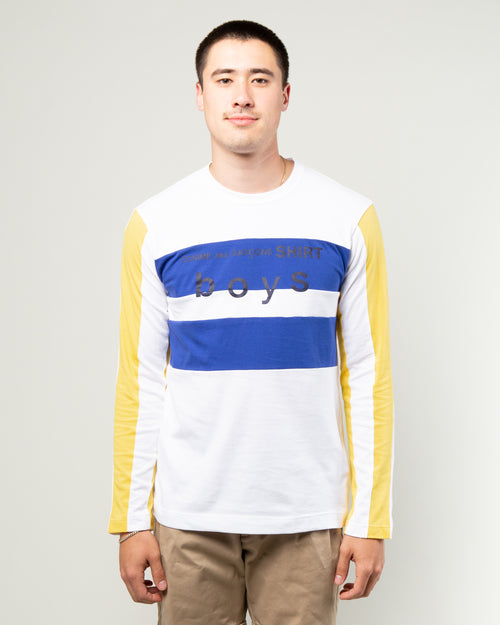 Boys LS Tee Blue/Yellow 1