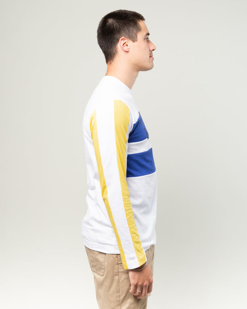 Boys LS Tee Blue/Yellow