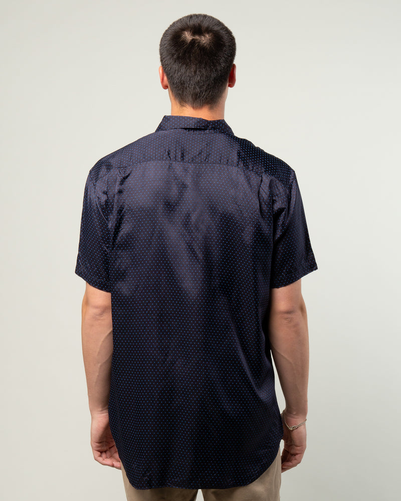 Polka Dot SS Shirt Navy/Blue