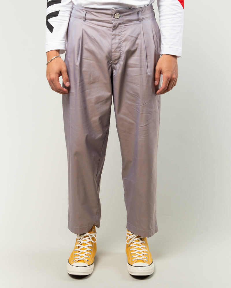 Twill Plain Trousers Grey
