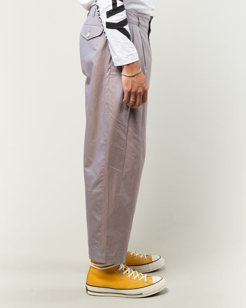Twill Plain Trousers Grey 2