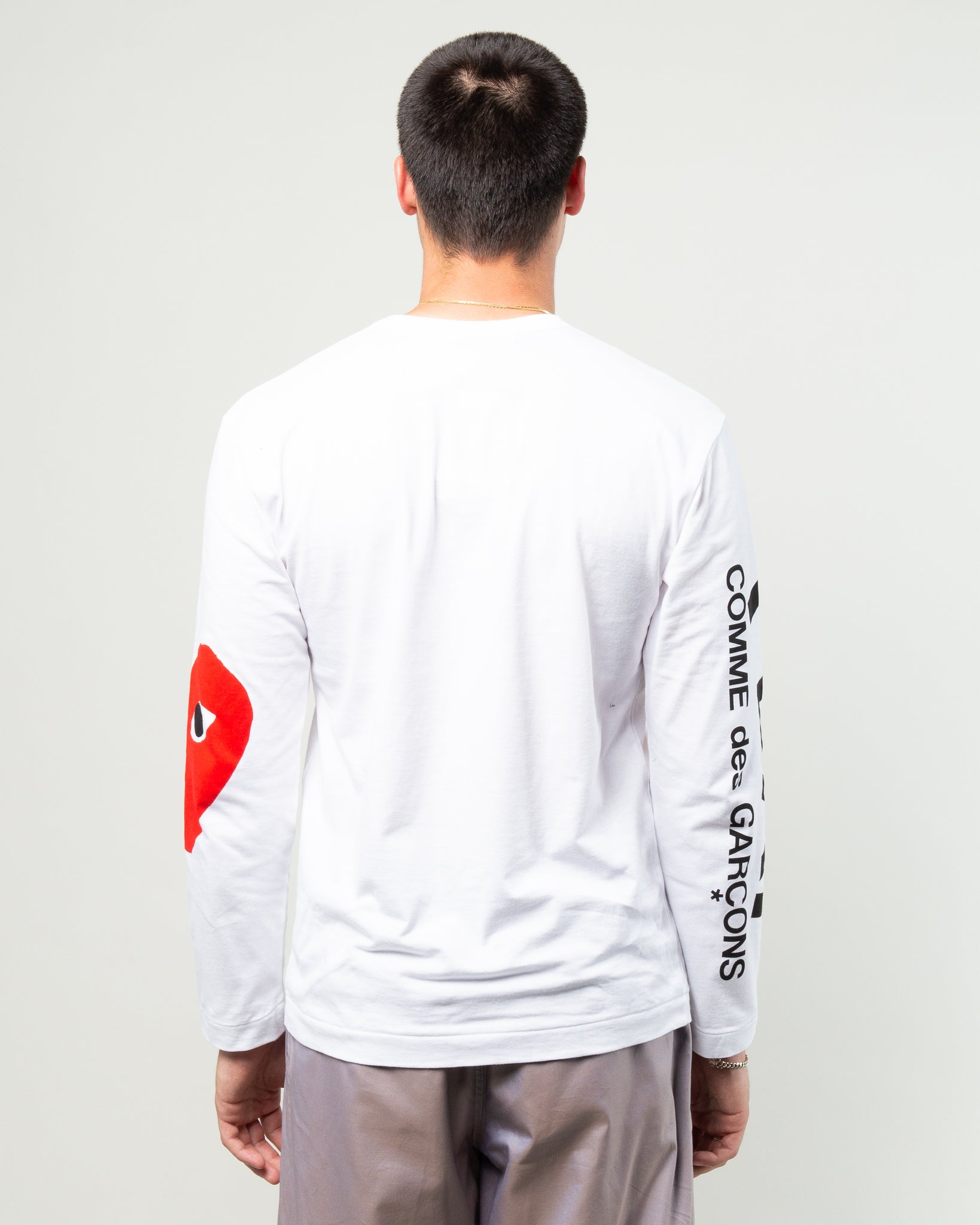 PLAY Big Heart Long Sleeve White