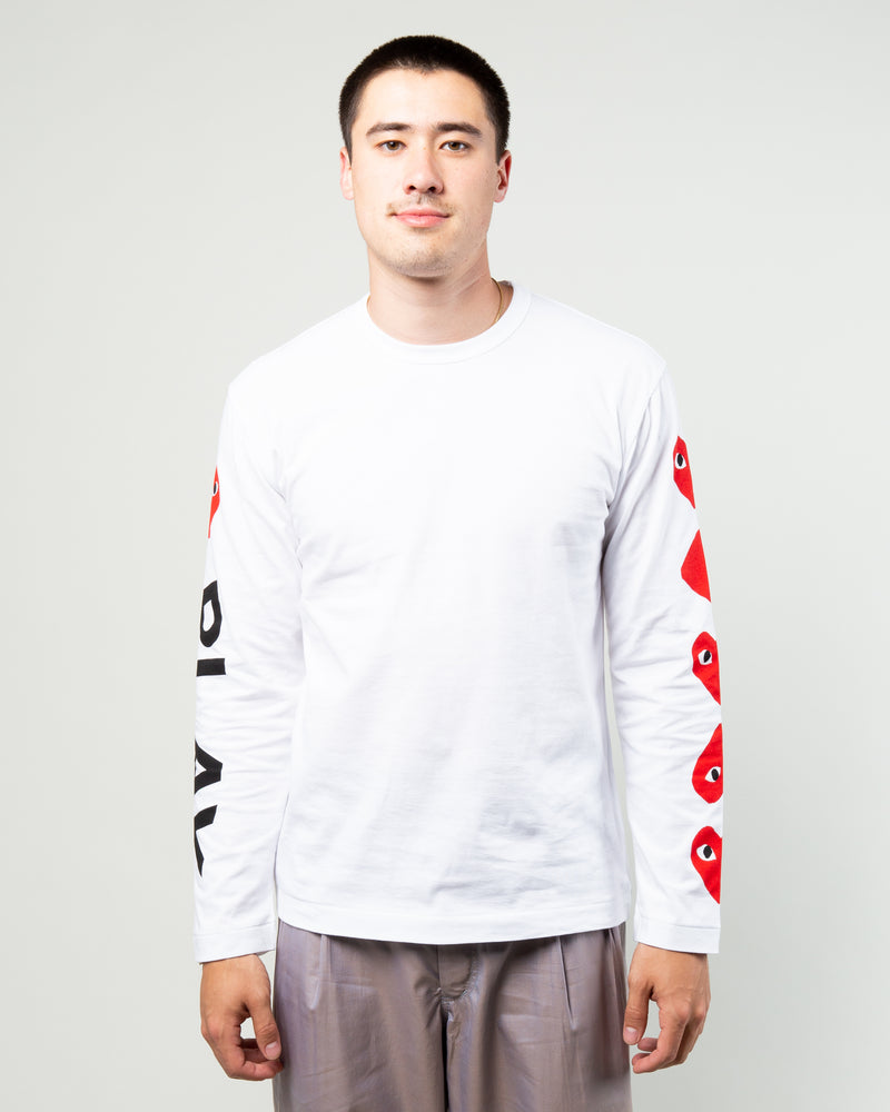 PLAY 4 Heart Long Sleeve White