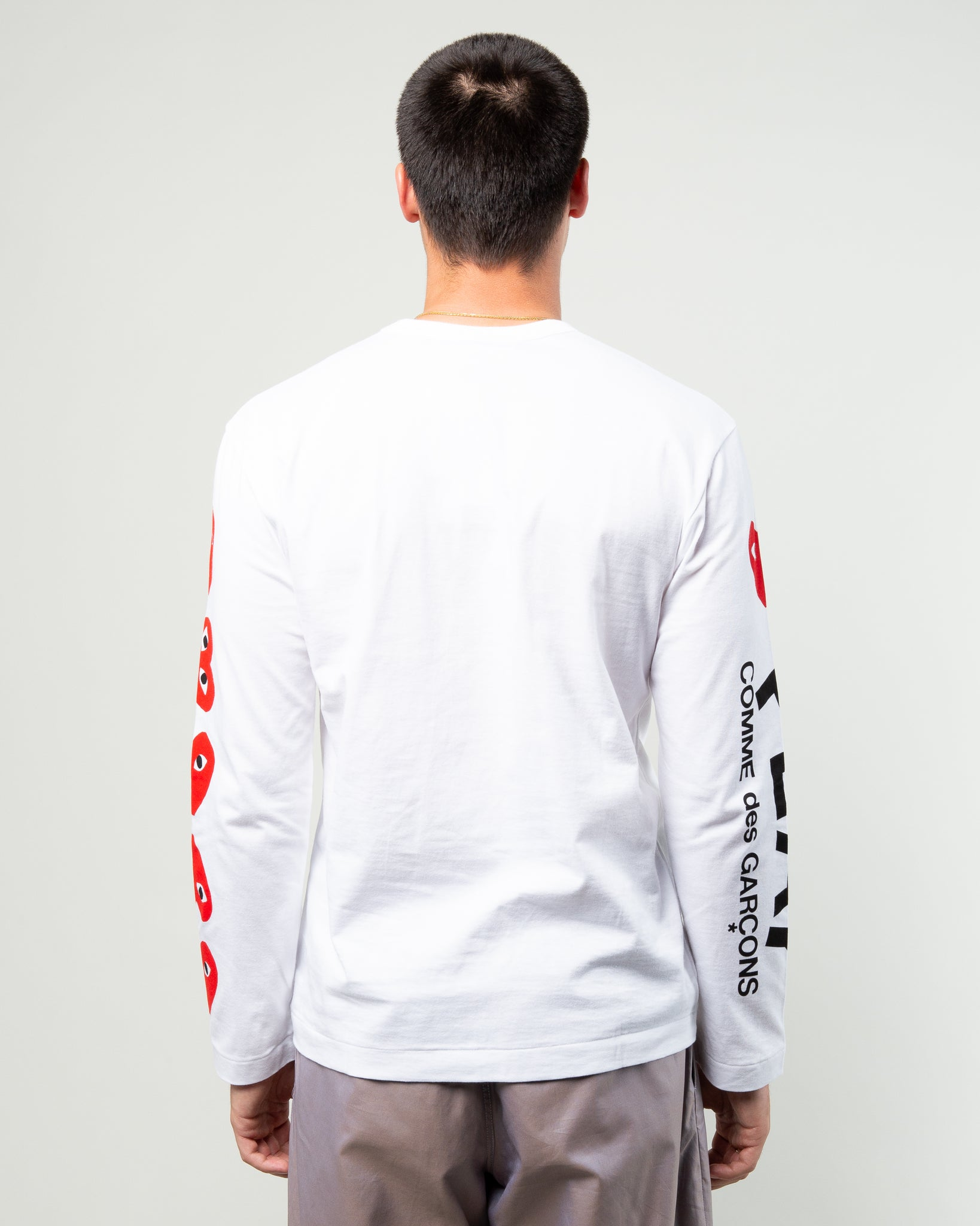 4 Heart Long Sleeve White