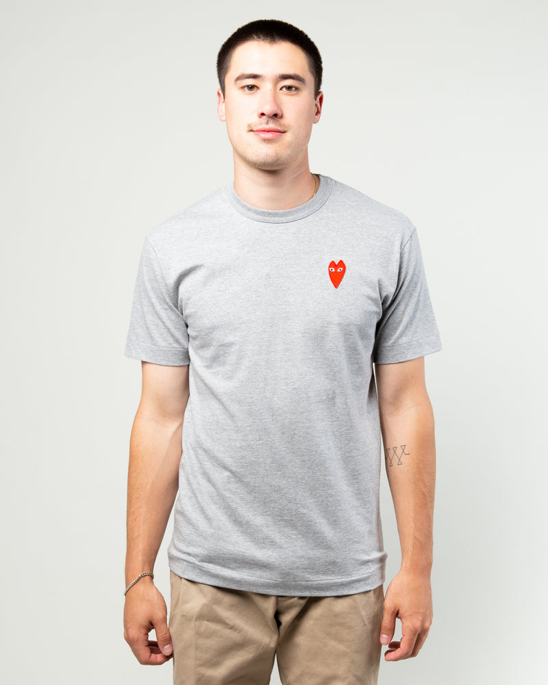 PLAY T-Shirt Long Heart Grey