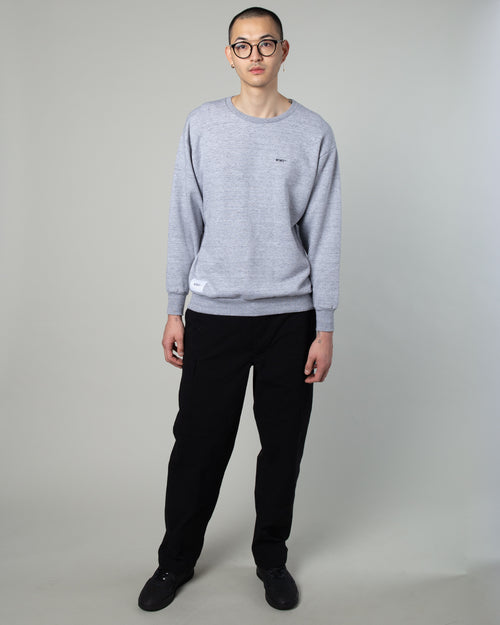 Blank Crewneck Sweatshirt Grey 2
