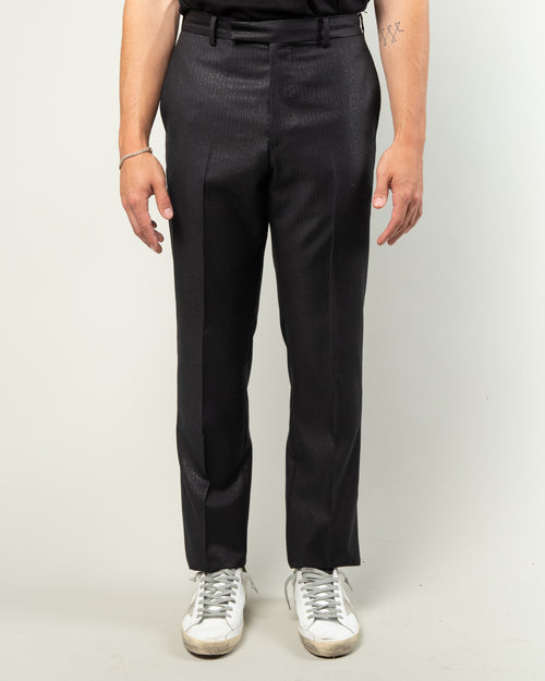 Straight Fit Trousers Black 1