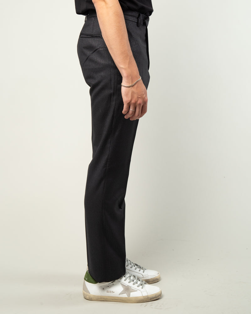 Straight Fit Trousers Black