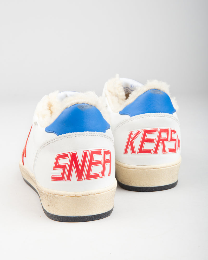 Ball Star White Shearling/Red Star