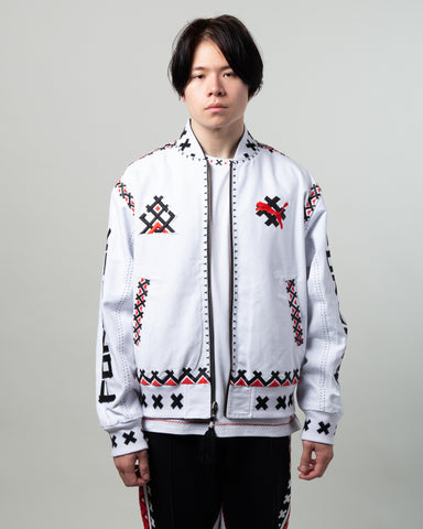 JAHNKOY Reversible Bomber Black/White