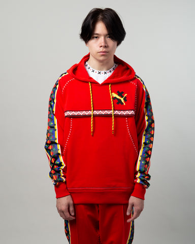 JAHNKOY Hoodie High Risk Red