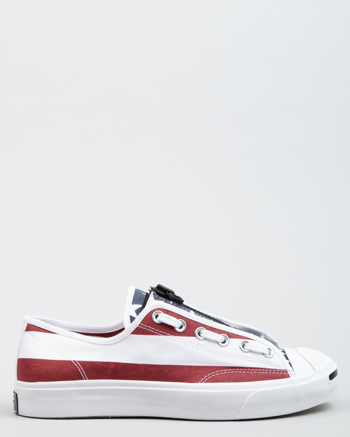 TAKAHIROMIYASHITA The Soloist Jack Purcell Zip OX White/Garnet/Rose 1