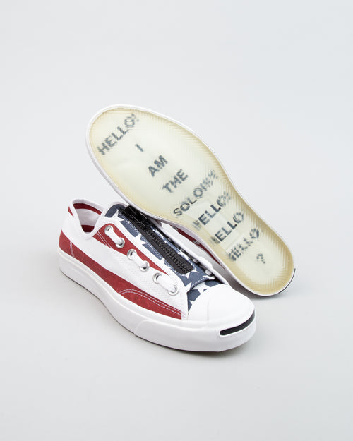 TAKAHIROMIYASHITA The Soloist Jack Purcell Zip OX White/Garnet/Rose 2