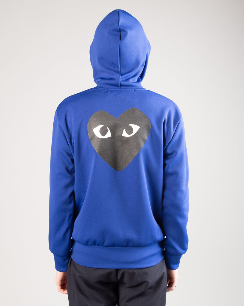 PLAY Big Heart Zip Hoodie Blue