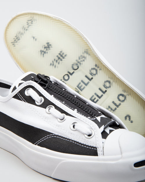 TAKAHIROMIYASHITA The Soloist Jack Purcell Zip OX White/Black 2