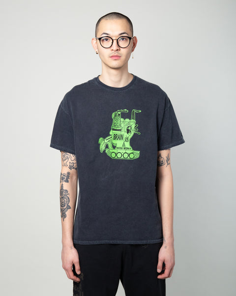 Media Works SS Tee Washed Black