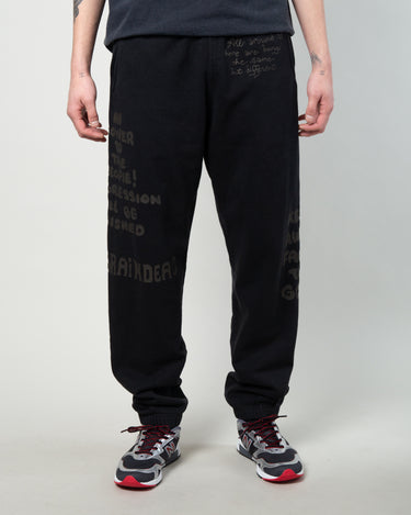Tonal Type Print Sweatpant Black 1