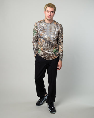 NRG Skeleton LS Tee Baroque Brown