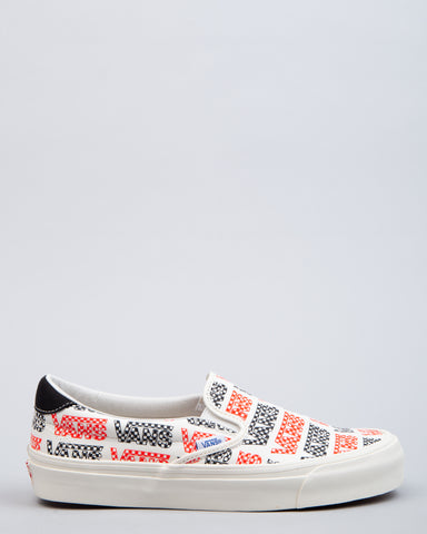 OG Slip-On 59 LX Racing Red/Logo Checkerboard