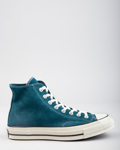 Chuck 70 HI Suede Midnight Turquoise/Black