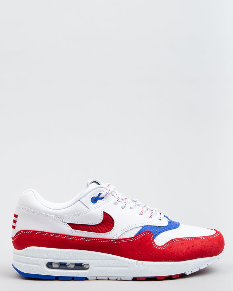 Air Max 1 Premium White/Gym Red/Racer Blue