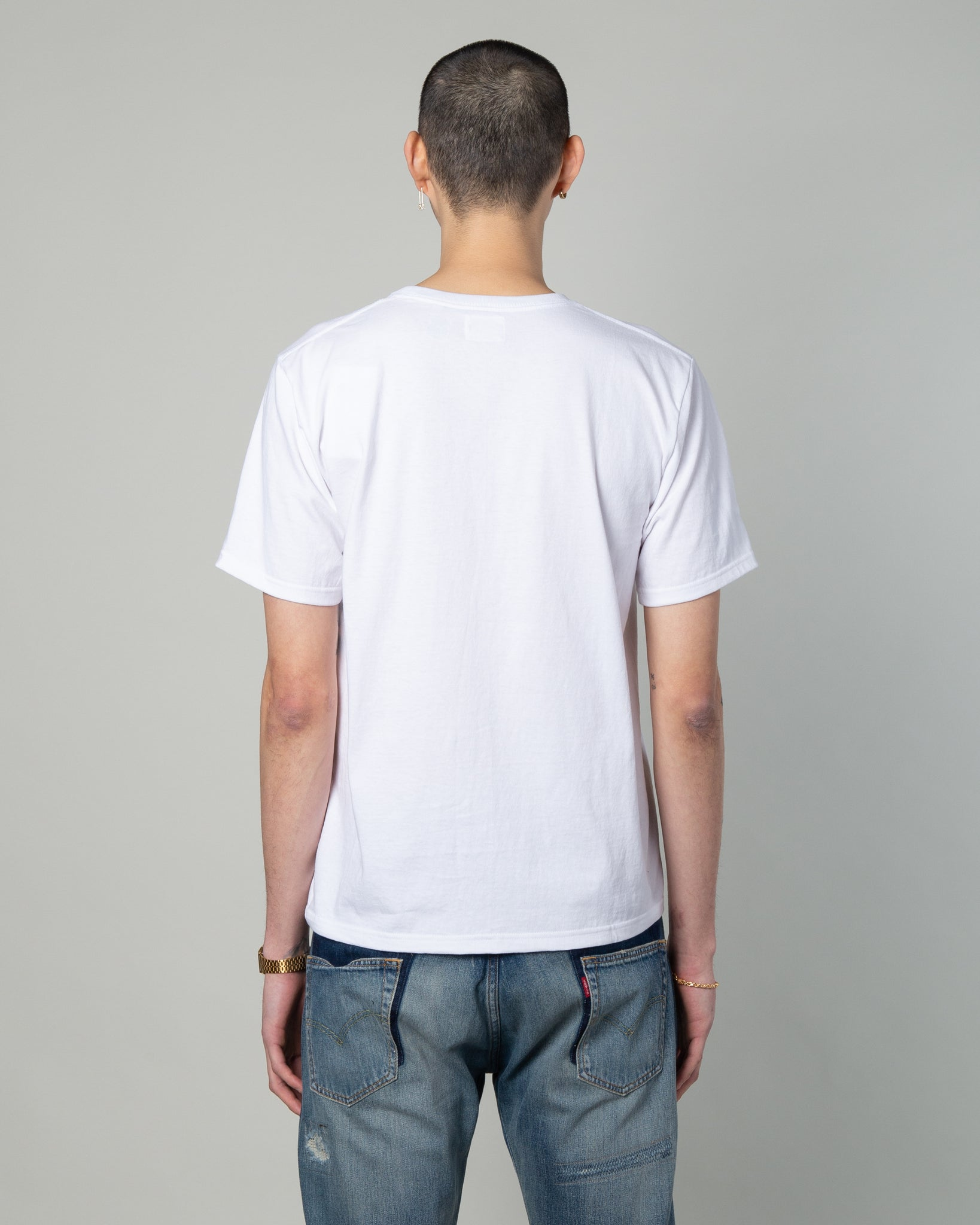 Oversize Pocket T-Shirt (Type-5) White