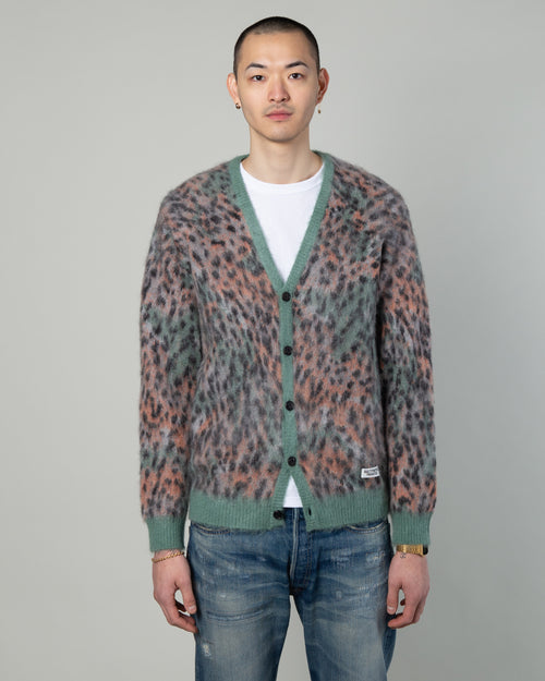 Leopard Mohair Cardigan (Type-1) Green 1