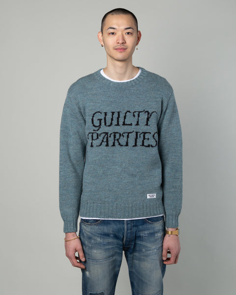Guilty Parties Crewneck Sweater Blue