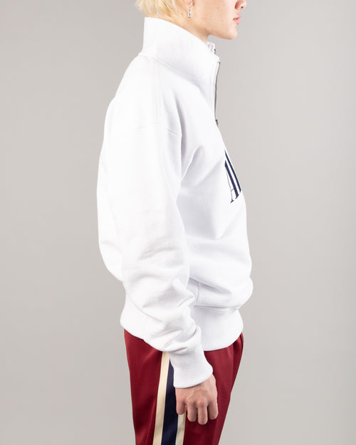 Quarter Zip Pullover White 2