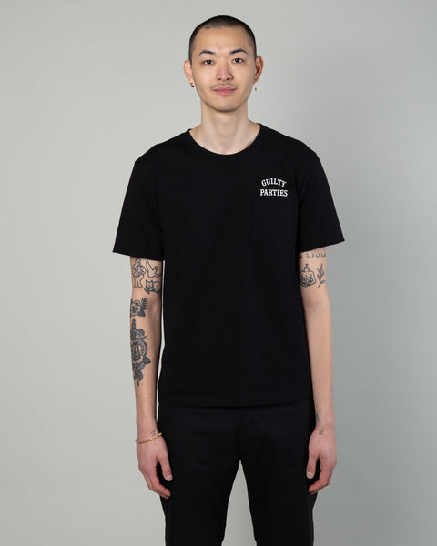 Oversize Pocket T-Shirt (Type-5) Black
