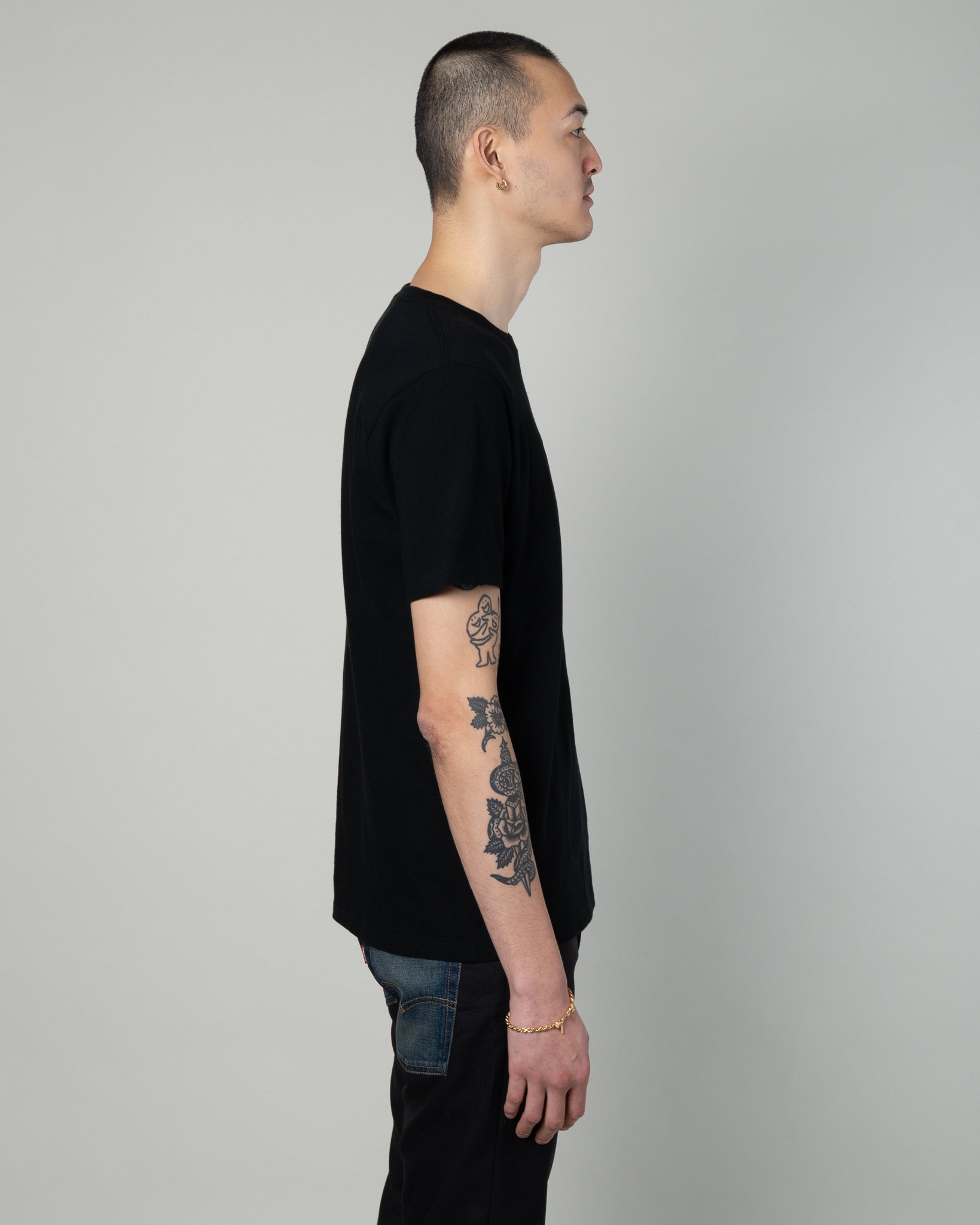 Wolfshead Crew Neck T-Shirt (Type-1) Black