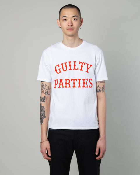 Slogan Print T-Shirt (Type-2) White