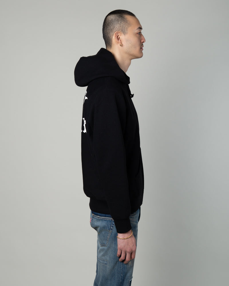 Heavyweight Full Zip Hooded Sweatshirt (Type-2) Black