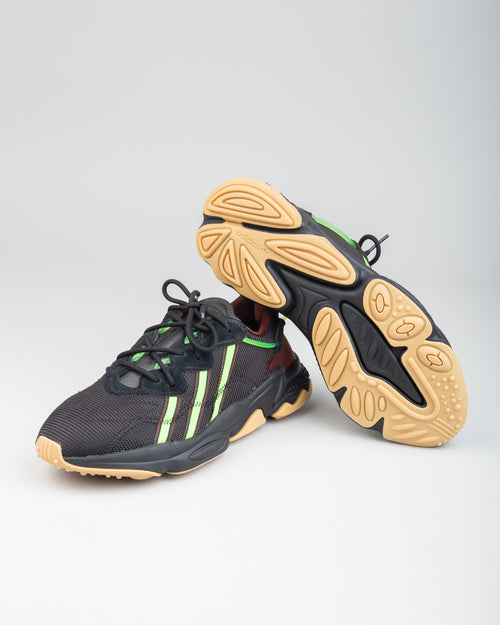 Pusha T Ozweego Black/Mystery Brown/Solar Green 2