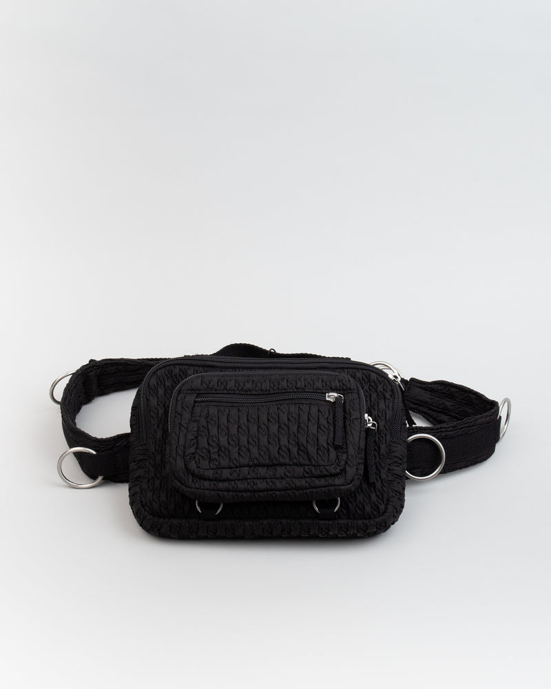 Raf Simons Waistbag Loop Black Matlasse
