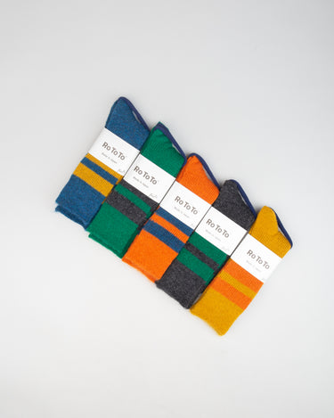 Reversible Brush Mohair Socks 1