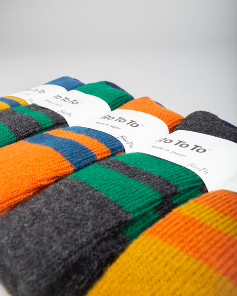 Reversible Brush Mohair Socks