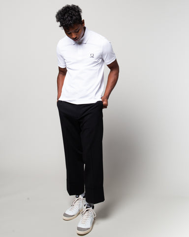Raf Simons Laurel Detail Polo White